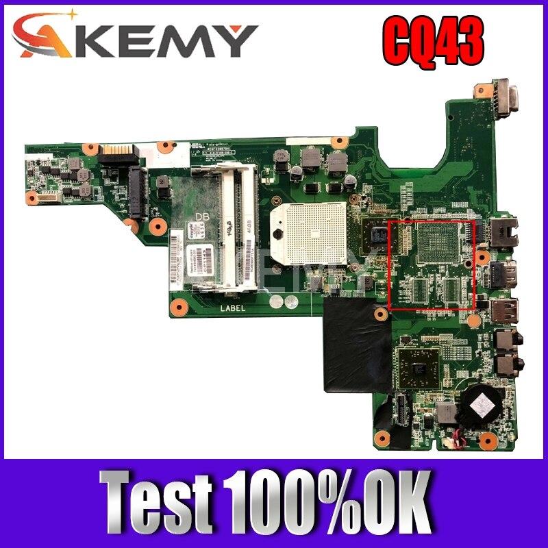 Akemy-لوحة أم للكمبيوتر المحمول HP Compaq 435 635 CQ43 ، 646982-001 ، لوحة رئيسية S1 ، DDR3 ، وحدة معالجة مركزية مجانية ، تم اختبارها بنسبة 100%