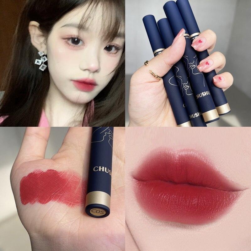 Cigarette Tube Matte Lip Gloss Waterproof Long Lasting Lipstick Moisturizing Liquid Lipstick Lip Makeup Cosmetics TSLM1 недорого