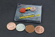 Ultimate Exchange 2.0 by Oliver Magic Close up Magia Copper&Silver Magia Coin Transform Magic Tricks Illusion Gimmick Props