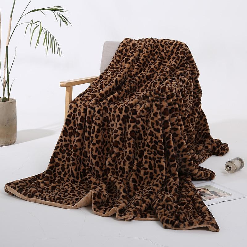 Manta de franela nueva envoltura de Conejo de Terciopelo bebé manta de cristal corto de felpa sofá manta adornos navideños para el hogar