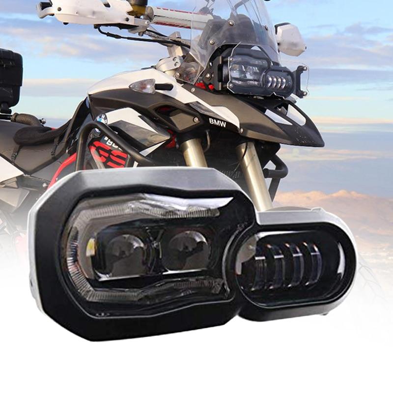 Uper دراجة نارية Led مجموعة مصابيح أمامية لسيارات BMW F800GS F800R F700GS F650GS F 700 GS مغامرة مع العارض عالية/منخفضة شعاع DRL