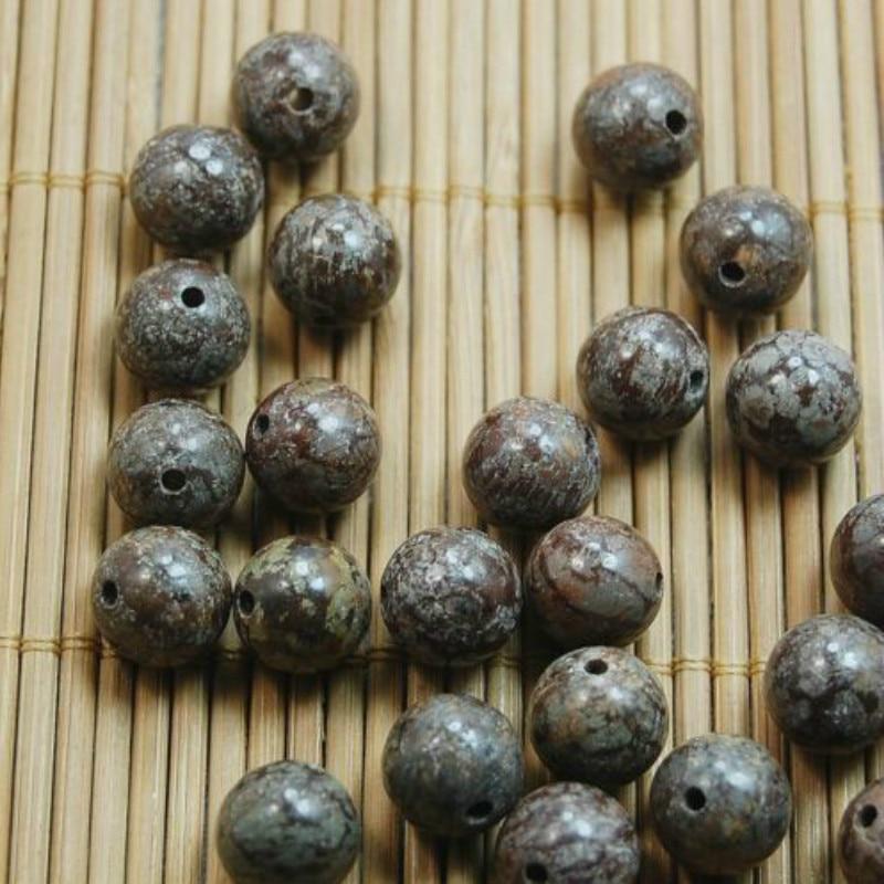 Natural Jewelry Making Round Loose Bead Coffee Jasper Beads Pick Size 6 8 10mm