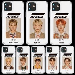 Quente para o iphone 5 5S se 6s 7 8 x xs max xr 11 pro max funda silicone macio tpu capa capa de telefone coque ateez hongjoong seonghwa
