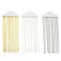 12pcslot 42cm water wave charm necklace chains with lobster clasps for diy jewelry findings making accessories