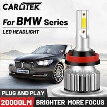 CARLITEK H1 H11 H7 H4 Led 헤드 라이트 전구 미니 크기 H8 H9 9005 9006 자동 램프 6000K 12V HB4 HB3 자동차 조명 BMW 시리즈 E90 E39