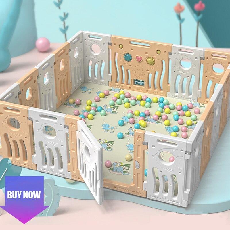 Детская игровая площадка для дома, Детская маленькая игровая площадка, детский коврик для ползания, забор, Многофункциональные комбинирова...