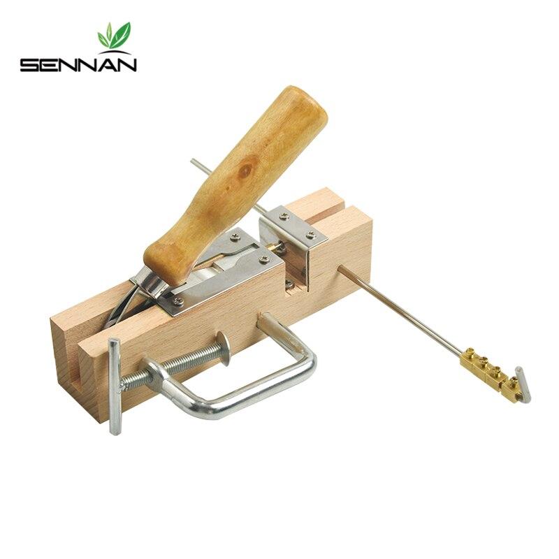 Sennan 1 pc novo equipamento de apicultura quadro ilhós puncher máquina para favo de mel ninho caixa quadros apicultura ferramenta