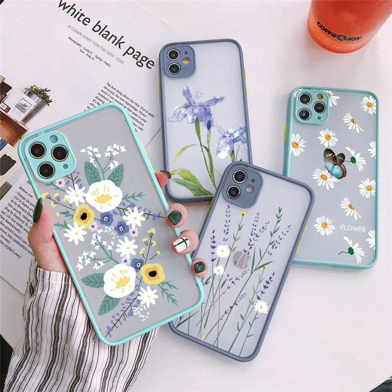 Fashion Florals Phone Case For Xiaomi Redmi Note 8 9 Pro Max 9S 7 K20 K30S PC Coque For Xiomi Mi 9T