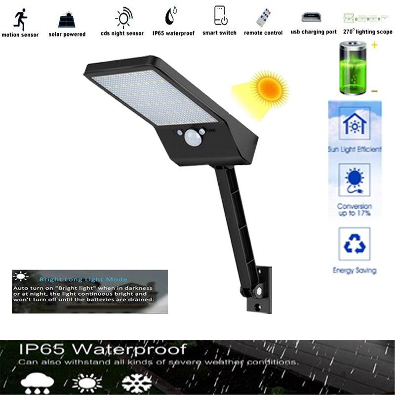 48 LED 800LM remote control Flood Light Lightg solar street light Waterproof IP65 Spotlights Garden