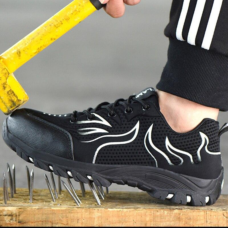 37 ~ 48 zapatos de seguridad botas de seguridad antideslizantes de acero para hombres # YD901