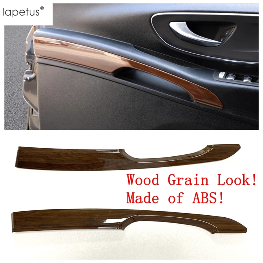 Lapetus aspecto de grano de madera reajuste Interior para mercedes-benz Vito W447 2014 - 2019 manija Interior de la puerta del coche tira de la cubierta Kit de ajuste