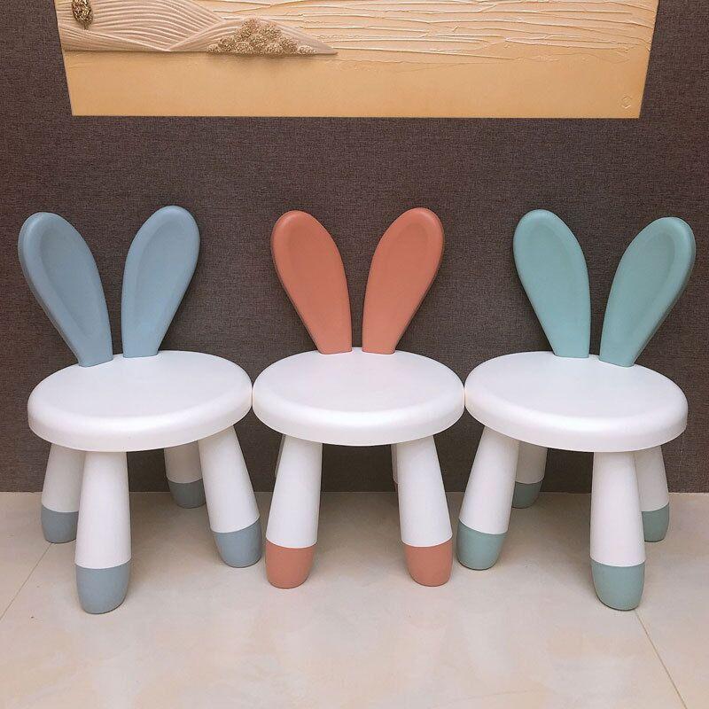 New Home Chair Children Stool Footboard Indoor furniture Children's Stool Toy Sofa Stool Children Chair Cute Pet Rabbit Chair