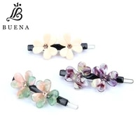 luxury hair pin double flower womens hair accessories exquisite wedding hairpin acetate hair clips