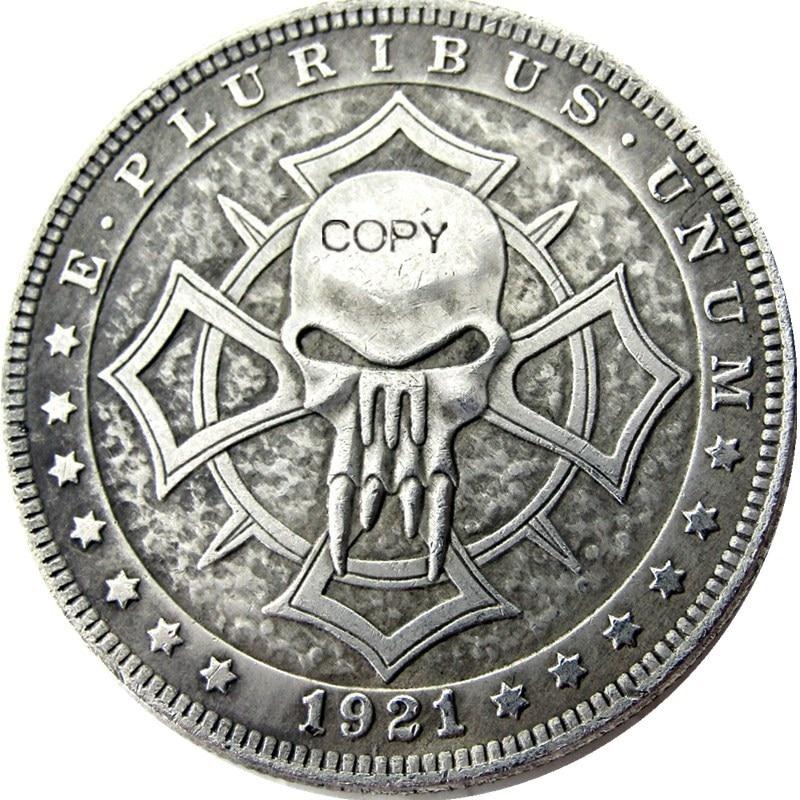 US Hobo 1921 Morgan Dollar Silver Plated Copy Coins