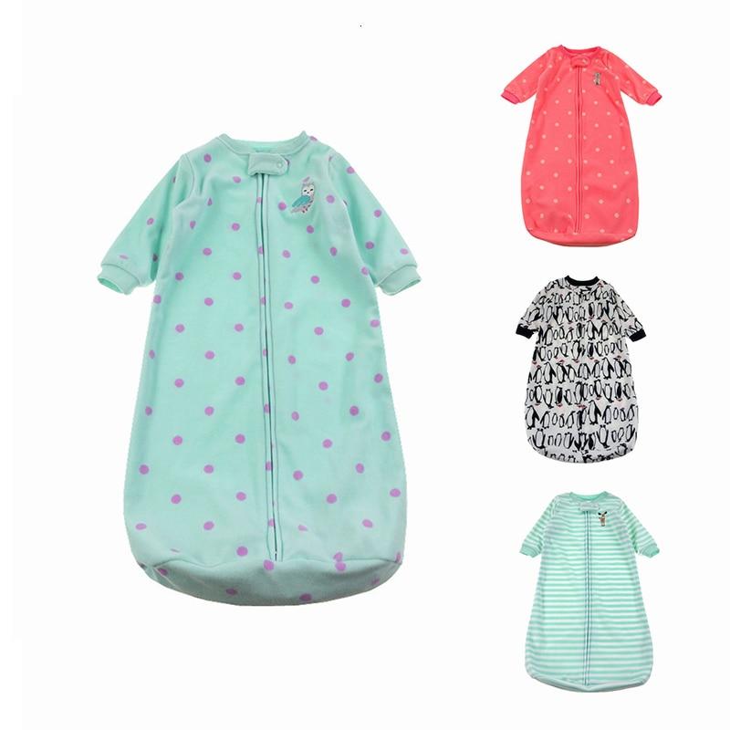 Милый спальный мешок для малышей новорожденных флисовая одежда младенцев