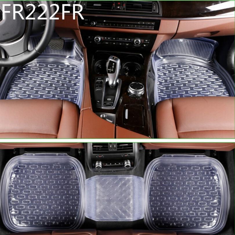 FR222FR universal 64*47cm non-slip car floor mats car mats car floor mat Transparent black 5pcs/set free shipping