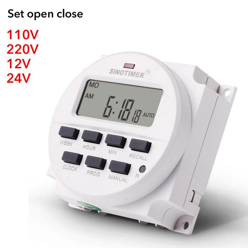 Urijk CN101A 12 В 24 в 110 в 240 В цифровой ЖК-дисплей таймер программируемый переключатель времени будильник светильник таймер