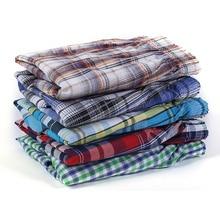 5 Pcs Mens Underwear Boxers Shorts Casual Cotton Sleep Underpants Quality Plaid Loose Comfortable Ho