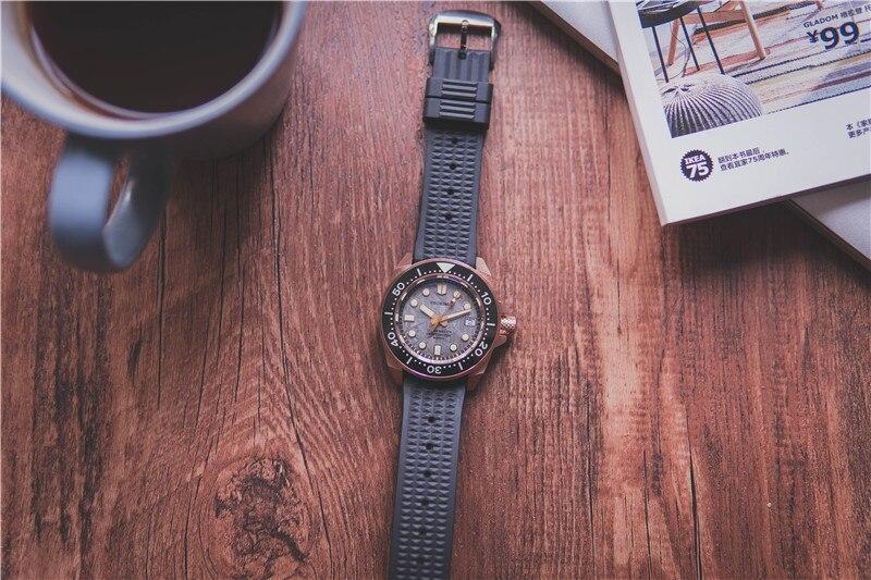 Tierra de bronce/Tierra NH35, reloj de pulsera automático para buceo de atún, MarineMaster CUSN8, esfera de meteorito de bronce