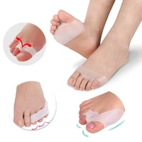 1 4pair toe straightener hallux valgus corrector foot fingers toe separator bunion adjuster forefoot pad cushion silicone insole
