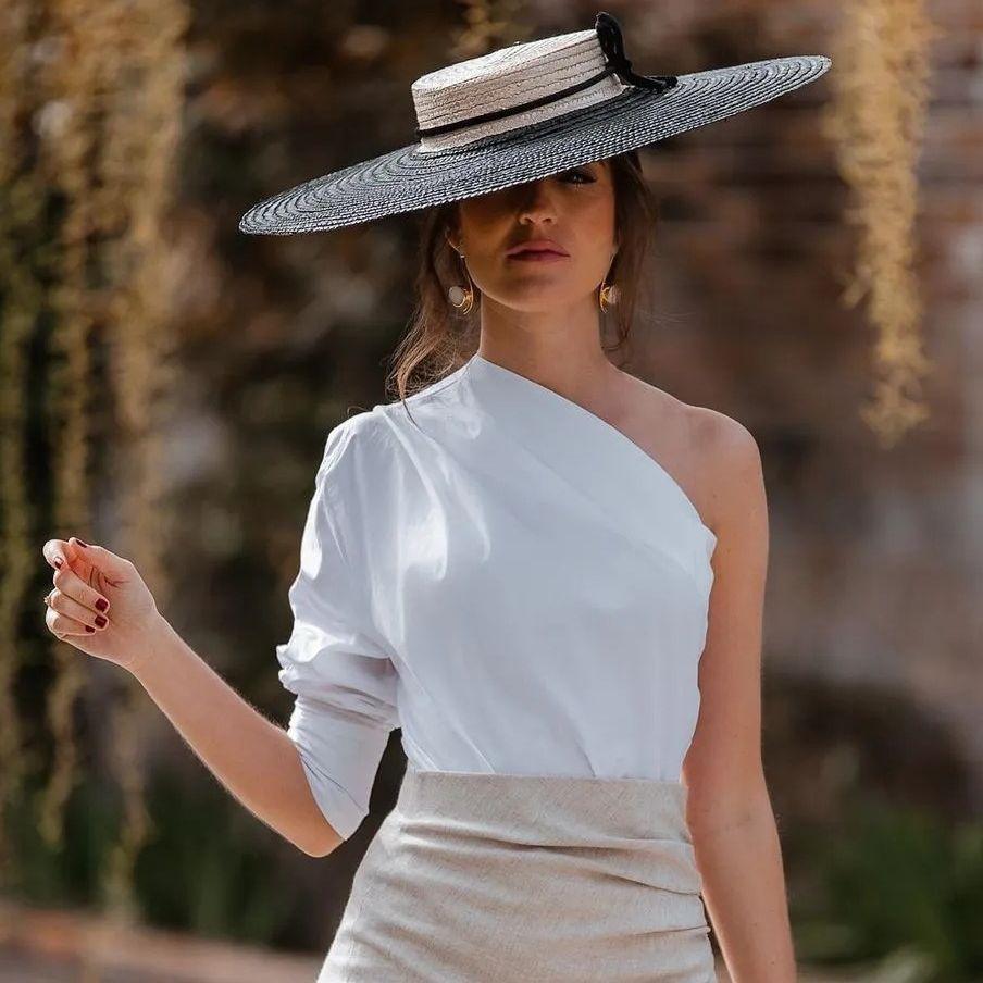 Женская Однотонная рубашка на одно плечо с асимметричным подолом, новый дизайн, женская блузка, топ, уличная одежда   Женская одежда   АлиЭкспресс
