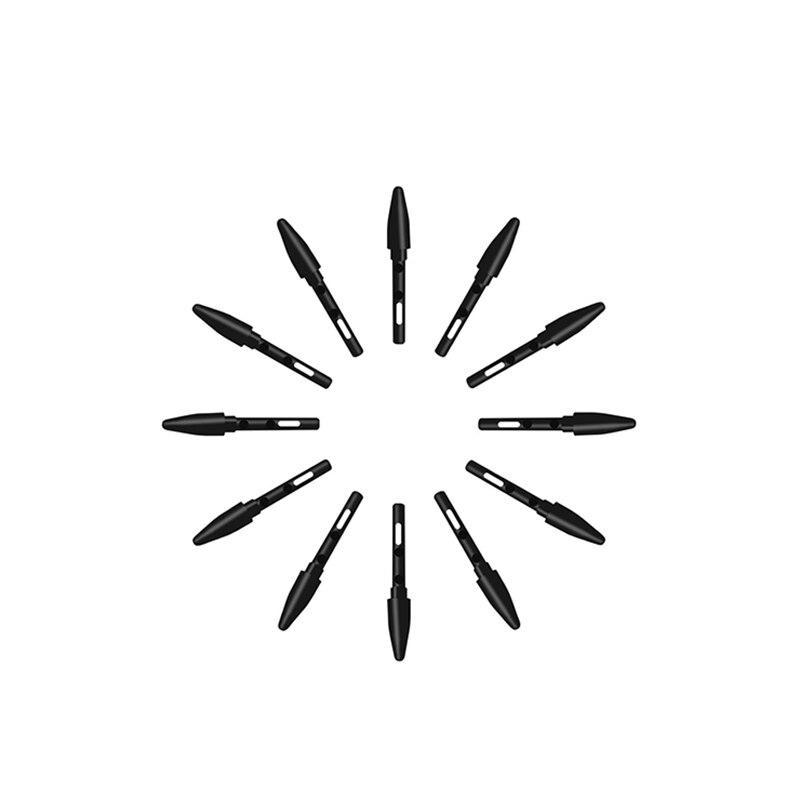 20 unids/lote negro estándar plumas de pluma para HUION UGEE Funtuos Gaomon VIKOO LIJING tabletas de la pluma (P68 / P80)