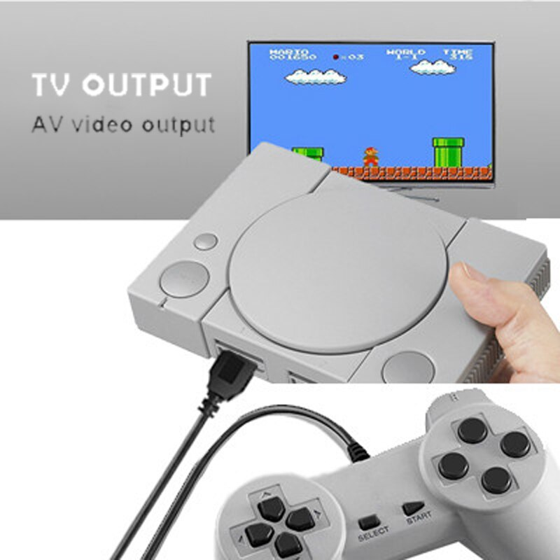 Video Game Console Build in 620 Games Support AV Out 8 Bit Retro Video Console Dual Gamepad Support 2 Gaming Player Retro Games