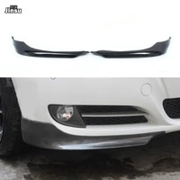 carbon fiber front bumper splitter for bmw 3 series sedan 320i 325i 330i 2009 2012 e90 lci sport style splitter flap cupwings