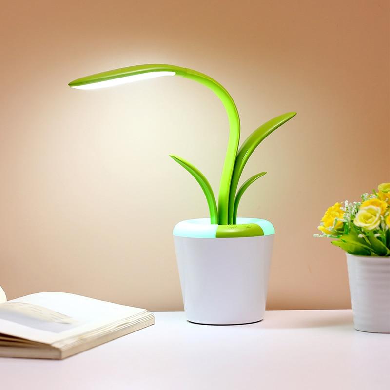 multifuncional lampada de mesa leitura cabeceira led night light toque usb recarregavel