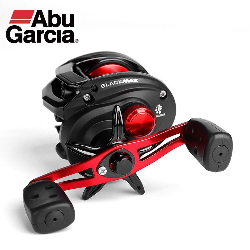 Abu Garcia-carrete de pesca Baitcasting de mano izquierda y derecha de perfil...