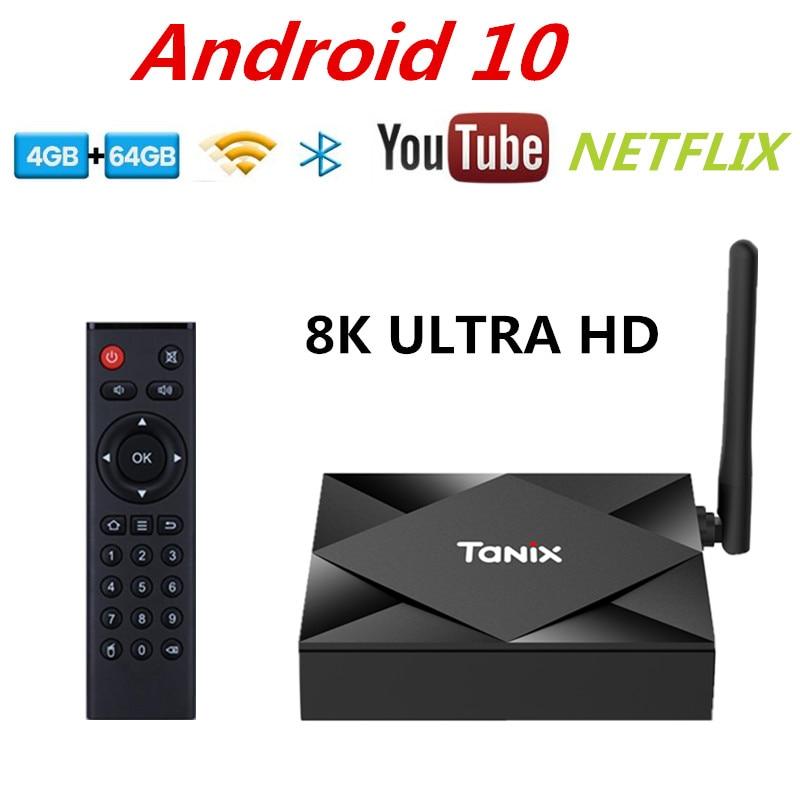 Android TV Box 10 4GB 32GB 4K Youtube Netflix Media Player 3D Video 2.4G/5G Wifi Bluetooth iptv Smart TV Box Set Top Box