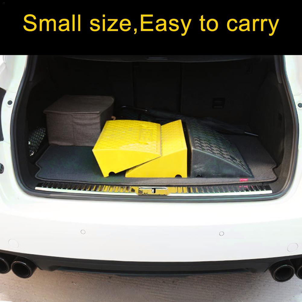 Portable Lightweight Plastic Curb Ramps Heavy Duty Plastic Threshold Ramp Kit Set for Car Bike Motorcycle with 16CM Height enlarge