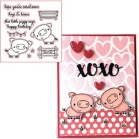 little piggy sayshappy birthday clear transparents silicone piggyphrases for diy scrapbooking card making
