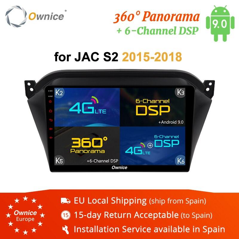 Ownice K1 K2 K3 K5 K6 Octa core Android 9,0 reproductor de DVD del coche GPS para JAC S2 de Audio Radio de coche navegador estéreo Bluetooth wifi 4G LTE