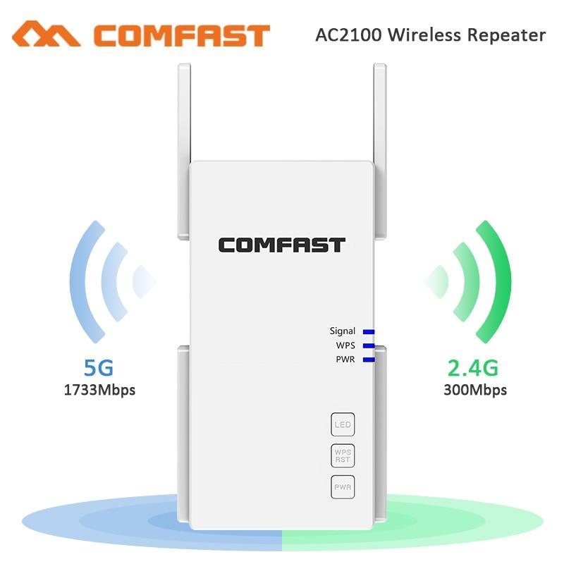 Беспроводной гигабитный усилитель сигнала Wi-Fi 2100 Мбит/с, 802.11ac, 802G/5 ГГц, точка доступа усилитель WiFi-роутера