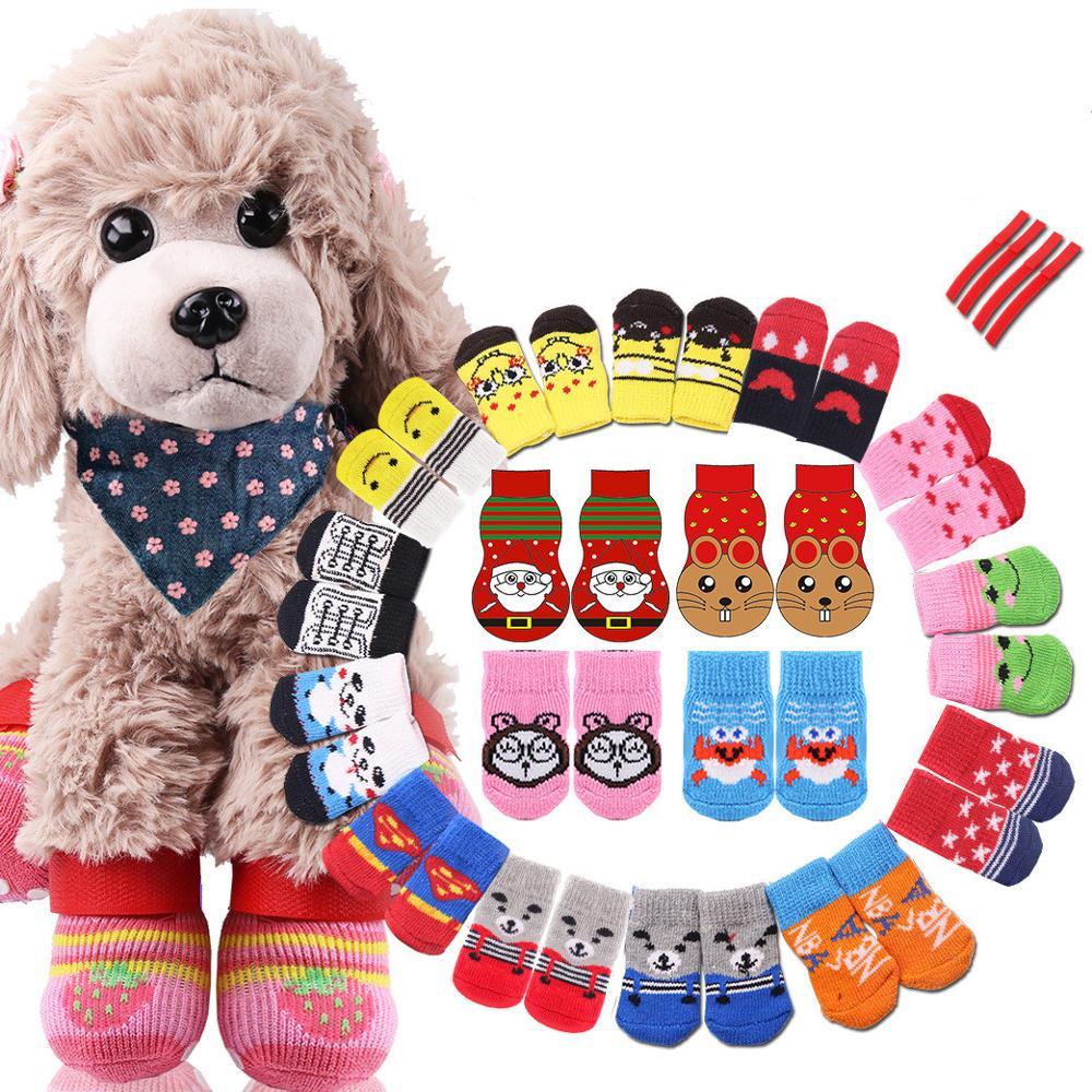 Conjunto de calcetines de Navidad para mascotas, calcetines cálidos para perros y...