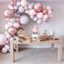 Romantic Macaron Colors Balloons Fashion Metal DIY Ballon Garland For Party Supplies Baby Shower Wed