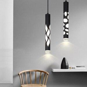 Thrisdar Dia 4CM L33CM Long Tube LED Modern Pendant Lights For Kitchen Island Dining Living Room Bar Hanging Lamp Downlight