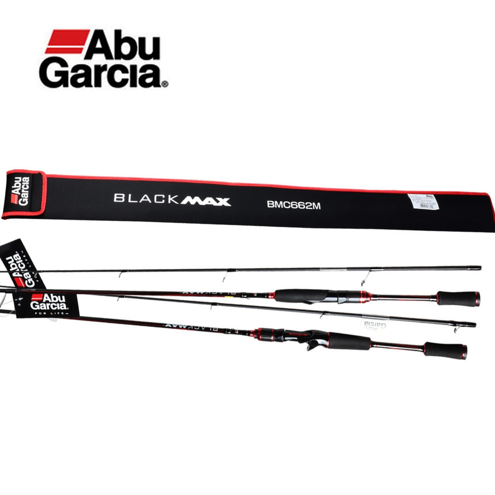 Original Abu Garcia New Black Max BMAX Baitcasting Lure Fishing Rod 1.98m 2.13m 2.28m UL M MH Power Carbon Spinning Fishing Rod enlarge
