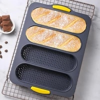 1pcs silicone mold french bread baking mold bread baking cake baking kitchen tray mold nonstick pans tools bread baguette r1u4