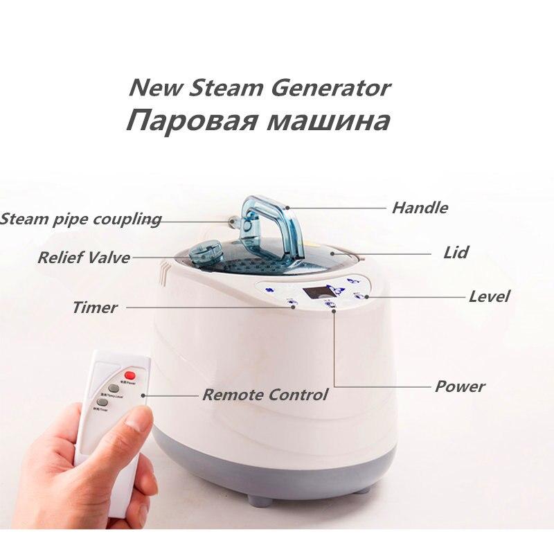 Купить с кэшбэком Steam Sauna Generator Cabin Portable Sauna kits Lose Weight Detox Machine Heater Steam Generator Private Home SPA