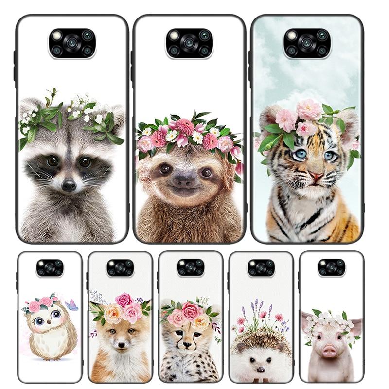 AliExpress - Raccoon Fox Animal Flower For Xiaomi Poco X3 NFC M2 X2 F2 C3 M3 Pocophone F1 Pro Mi Play Mix 3 A2 A1 6 lite Phone Case