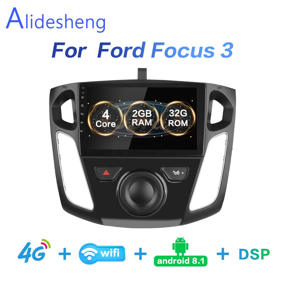 2g + 32g dsp 2 din android 8.1 4g net rádio do carro multimídia player de vídeo para ford focus 3 2012 2013 2014 2015 wifi bt