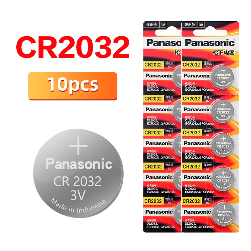 PANASONIC 2020 Venta promocional 10 Uds 3V CR2032 CR 2032 reloj Pilas...