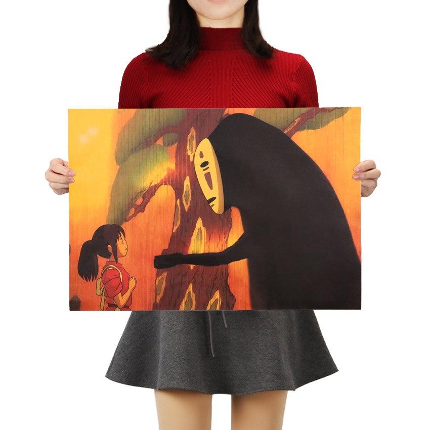 Gravata ler famoso dos desenhos animados anime filme kraft papel cartaz crianças quartos pintura decorativa adesivos de parede 50.5x35cm