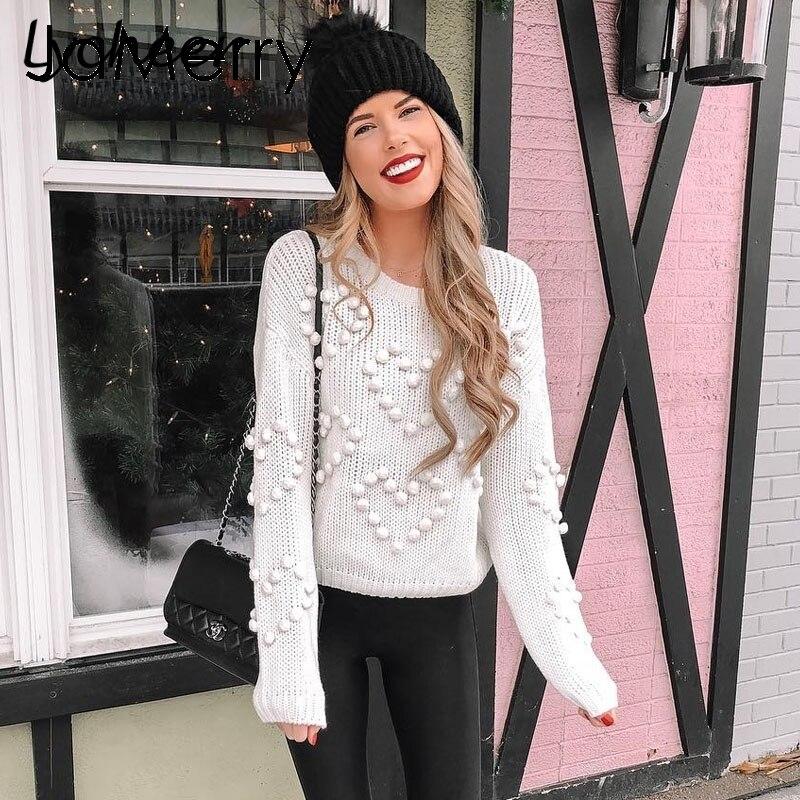 Lycheer Thick pullover mujer suéter Otoño Invierno cuello redondo suéter femenino Casual streetwear manga larga señoras jumper suéter