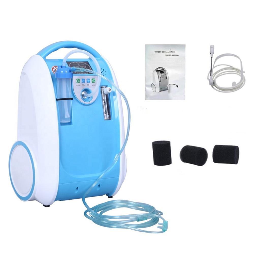 1-5L/دقيقة مكثف الأوكسجين المحمول الأكسجين البنك آلة الأكسجين للاستخدام المنزلي أجهزة التنفس