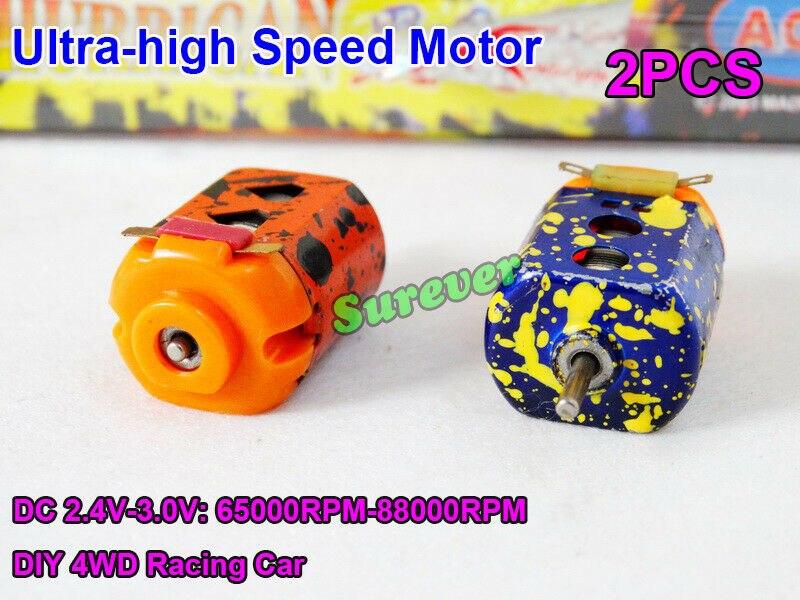 2 unids/par Mini 130 Motor DC 2,4 V-3V 60000RPM Ultra-alta velocidad DIY...