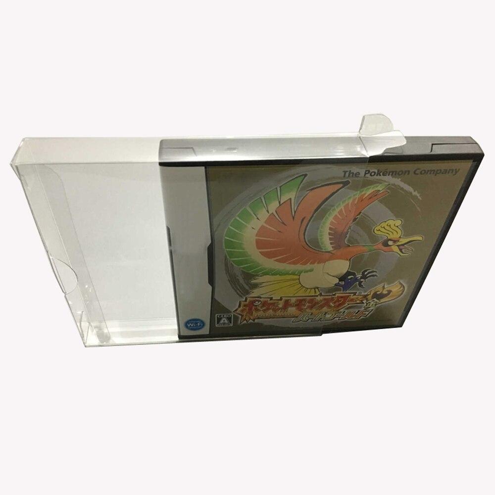 100 Uds JP/US versión transparente caja transparente para NDS juego tarjeta caja de color plástico PET Protector colección almacenamiento caja protectora
