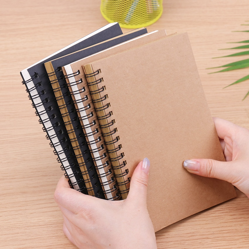 Diario, papel negro, cuaderno, cuaderno de bocetos, diario para dibujar, pintura, Bloc de notas de espiral, material de oficina, material escolar, papelería